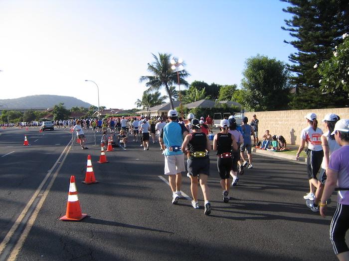 maratona a Honolulu che si tiene in autunno