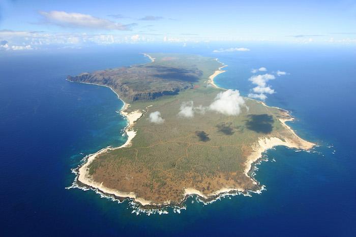 Niihau vista dall'elicottero