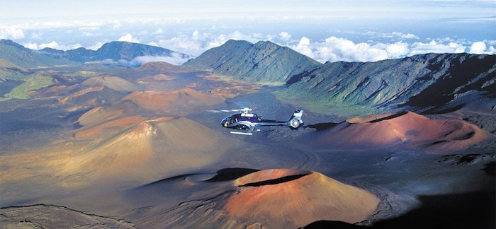 Tour in elicottero sul vulcano haleakala, maui