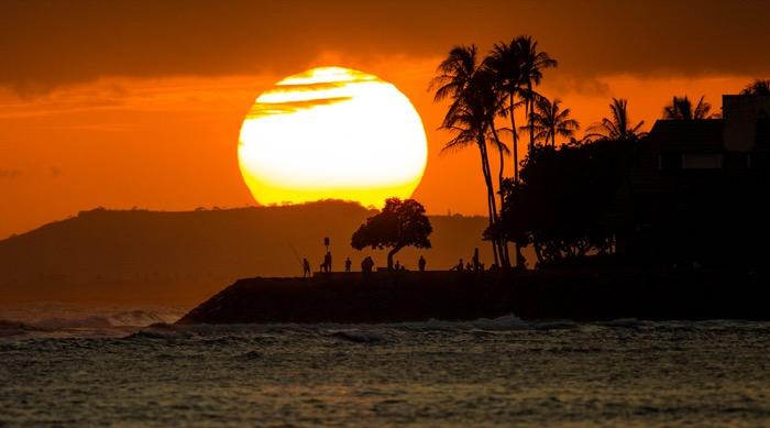 tramonto su ala mona beach park
