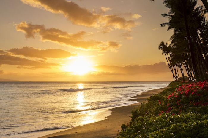 tramonto kaanapali beach