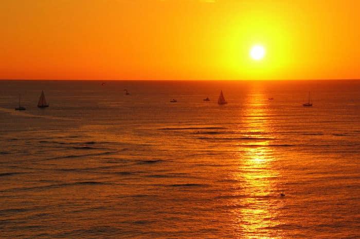 Tramonto su Waikiki